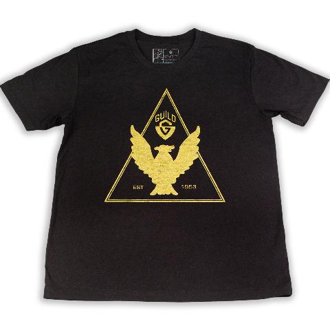 Guild T Bird Tee Shirt Black Medium 921-0703-006