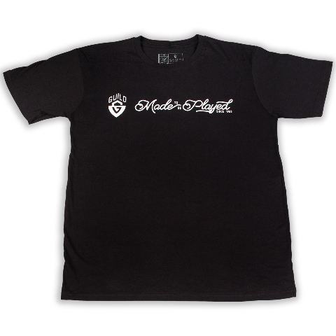 Guild Made To Be Played Tee Shirt Black Medium 921-0903-001
