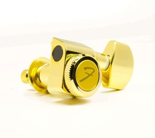 Genuine Fender 099-0818-200 gold locking 2-pin Strat/Tele set of tuners