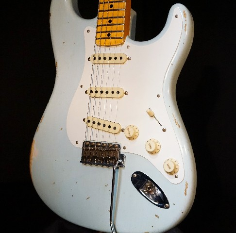 Fender Ltd Custom Shop 1956 Heavy Relic Faded Sonic Blue Stratocaster Guitar