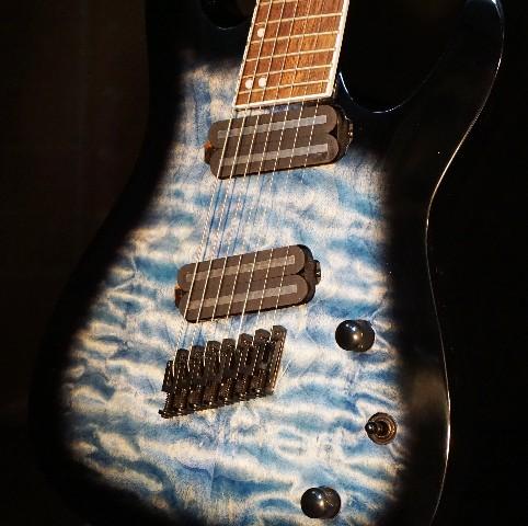 Jackson X Series Slat XF7 QM MS Trans Blue Burst Guitar ICJ1974036