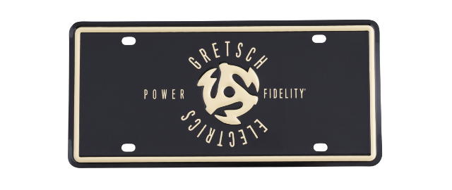 Gretsch Power And Fidelity Metal License Plate