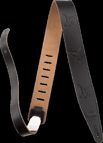 Gretsch Falcon Leather Guitar Strap Black 2.5''