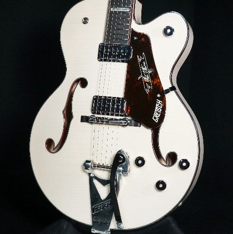 Gretsch USA Custom Shop G6120CS  Trans White Flamed Maple Nashville Guitar