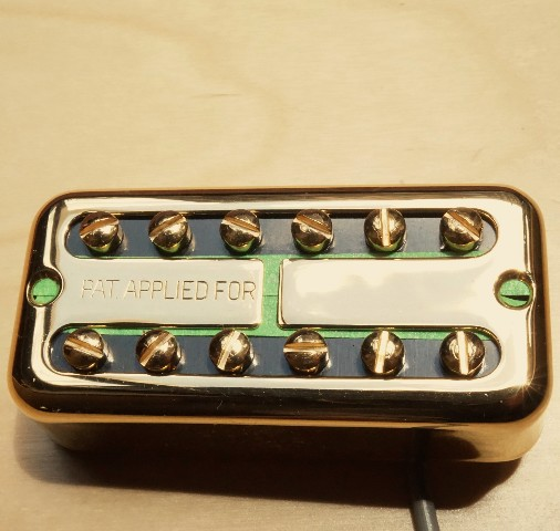 Tv Jones Ray Butts Ful-Fidelity Paf Gold Neck Guitar Pickup No Ear (RBN-NEGLD-PAF)
