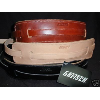 Gretsch Straps 3-Skinny Leather   Black/Natural/Walnut