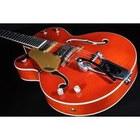 Gretsch G6120SSULH NV Lefty  Brian Setzer Nashville Electric Hollow Body Guitar Orange Flame