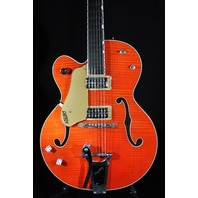 Gretsch G6120SSULH NV Lefty  Brian Setzer Nashville Electric Hollow Body Guitar Orange Flame