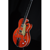 Gretsch G6120SSU NV  Brian Setzer Nashville Guitar Orange Flame Hollow Body Guitar JT18072760