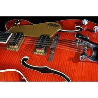 Gretsch G6120SSU NV  Brian Setzer Nashville Guitar Orange Flame Hollow Body Guitar JT18072760