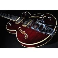 Gretsch G6659TFM Dark Cherry Flame JR Players Edition Broadkaster Guitar Mint 2018