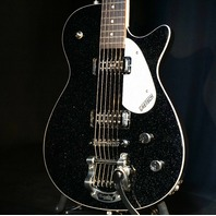Gretsch G5265T Electromatic Jet Baritone Solid Body Black Sparkle Guitar