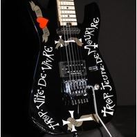 Charvel USA Warren Demartini Signature Frenchie Guitar Black In Stock SN: C10772