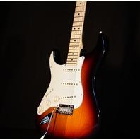 Fender American Pro Lefty Stratocaster Maple Neck Sunburst Guitar Hardshell Inc.