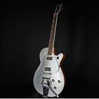 Gretsch G6129T-PE Players Edition Silver Sparkle Jet Guitar JT21020769 (Actual Guitar)