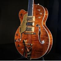 Gretsch USA  Custom Shop G6120CST LH Lefty Curly Maple 3 pickup Nashville Guitar