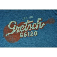 Gretsch G6120 Deep Teal Short Sleeve Tee Shirt XX-Large