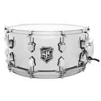 "SJC Custom Drums Alpha Steel Snare Drum - 6.5"" x 14"" Chrome"