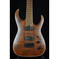 Jackson USA Mansoor Juggernaut HT7 Fm Amber Tiger Eye Guitar W/Hardshell Case Mint 2017