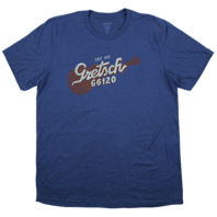 Gretsch G6120 Navy Blue Short Sleeve Tee Shirt X-Large