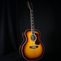 Guild USA F-512 ATB 12 String Antique Burst Jumbo Guitar W/Hardshell Case C205970