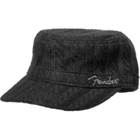 Fender Sweater Knit Military Cap Hat Black  Pn:9106657000