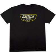 Gretsch 135th Anniversary Black Tee Shirt Small
