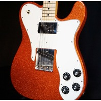 Fender Classic Series '72 Telecaster Custom Electric Guitar Orange Sparkle W/Gig Bag
