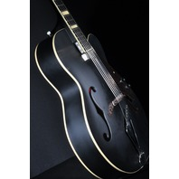 Gretsch G100CE Flat Black Synchromatic Archtop AC/EL Guitar W/Gig Bag