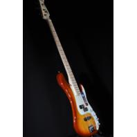 Fender American Elite Precision Bass Tobacco Burst Maple Neck W/Hardshell