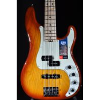 Fender American Elite Precision Bass Tobacco Burst Maple Neck W/Hardshell