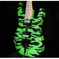 Charvel Satchel Signature Pro-Mod DK Slime Green Bengal Guitar