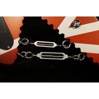 EVH Striped Series Shark Pau Ferro Fingerboard Burgundy with Silver Stripes