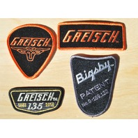 Gretsch and Bigsby Patches Quantity 4