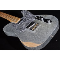 Fender Brad Paisley Signature Road Worn Silver Sparkle Telecaster Guitar