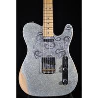 Fender Brad Paisley Signature Road Worn Silver Sparkle Telecaster Guitar