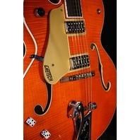 Gretsch G6120SSULH NV Lefty  Brian Setzer Nashville Guitar Orange Flame Mint