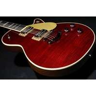 Gretsch G6228FM Players Edition Jet BT Dark Cherry Flame Guitar Mint