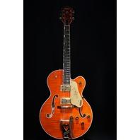 Gretsch G6120T-FM Players Edition Nashville Flamed Top Guitar JT18124813