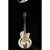 Gretsch USA  Custom Shop G6158CST  White Motto Top 3 Pickup Guitar