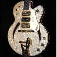 Gretsch USA  Custom Shop G6158CST  White Motto Top 3 Pickup Guitar