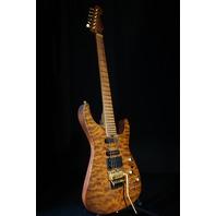 Jackson USA PC1 Phil Collen Signature Guitar Satin Trans Amber W/Caramelized Flame Maple Fretboard