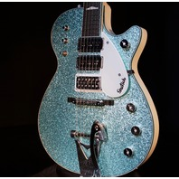 Gretsch USA  Custom Shop Triple Jet 3 Pickup Turquoise Sparkle Alpine White Guitar