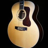 Guild USA F-512E  Natural Jumbo 12 String Acoustic/Electric Guitar W/Hardshell C195182