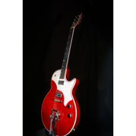TV Jones Spectra Sonic Supreme Scarlet Red Guitar W/Hardshell Case