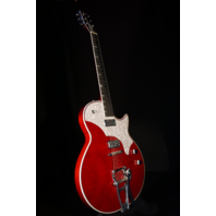 TV Jones Spectra Sonic Supreme Scarlet Red Guitar W/Hardshell Case