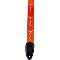 Gretsch Wing Logo Pattern Guitar Strap Orange and Gray