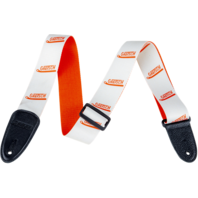 Gretsch Vibrato Arm Pattern Guitar Strap White and Orange