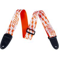 Gretsch Alternating Penguins Guitar Strap Orange And White