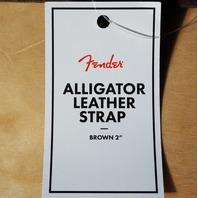 """Fender Alligator Leather Guitar Strap 2"""""""